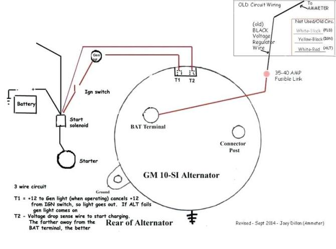 gm alternator wiring diagram internal regulator  wiring