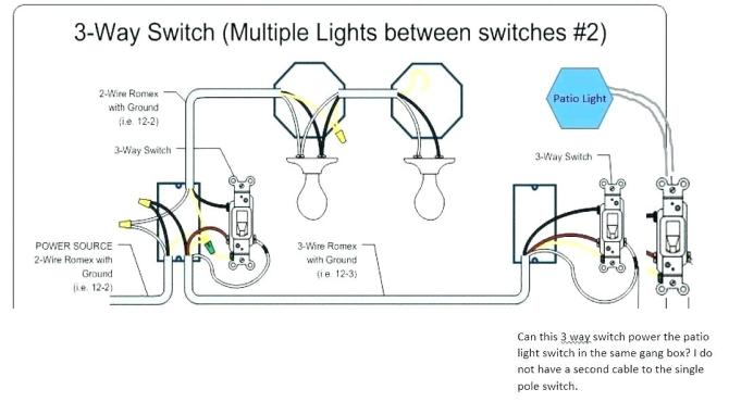yv9983 wiring diagram double switch two lights schematic