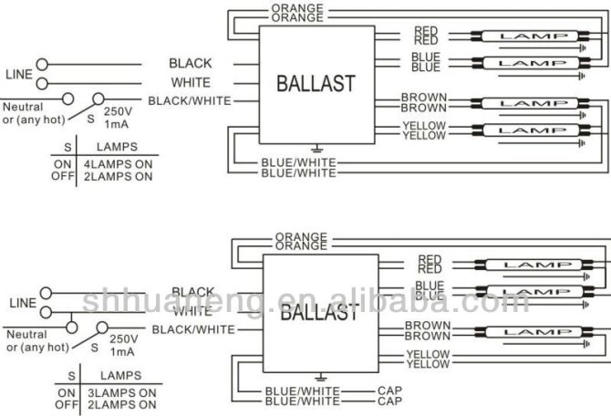 4 bulb flourescent light wiring diagram 2007 chevy