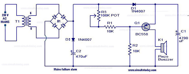 ze2490 power supply failure alarm circuit diagram