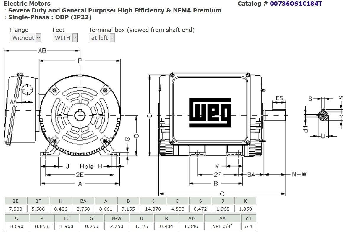Weg 5 Hp Single Phase Motor Wiring Diagram