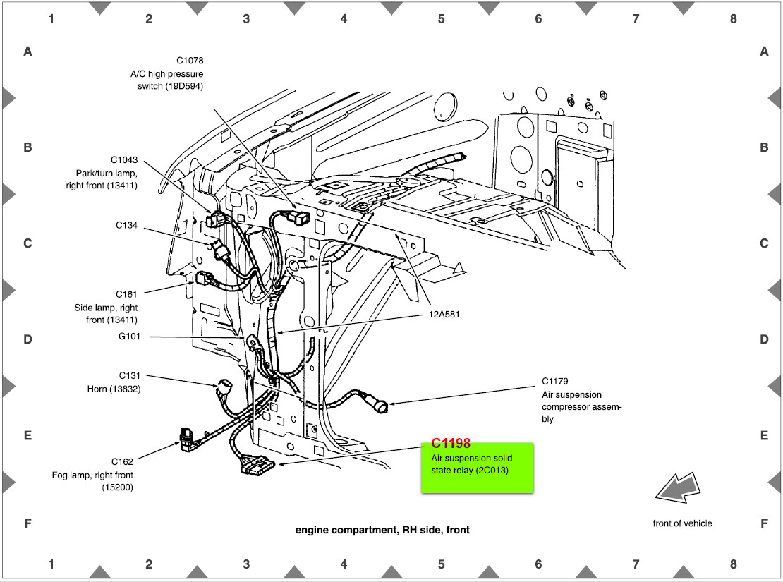 Lincoln Navigator Air Suspension Wiring Diagram