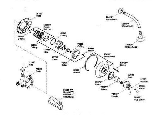 shower faucet replacement parts motor