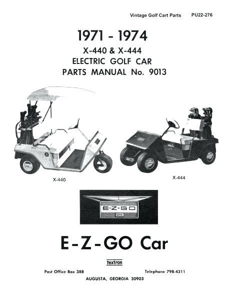 Ez Go Golf Cart Parts Manual