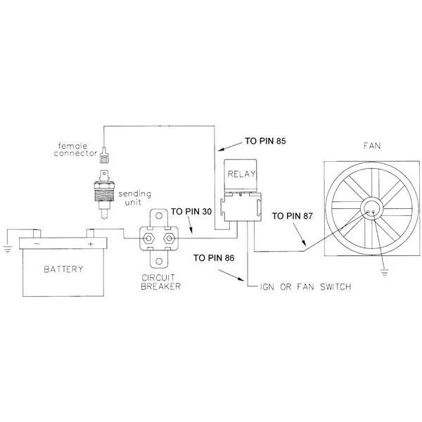 gx7726 electric fan relay wiring diagram on temp sensor