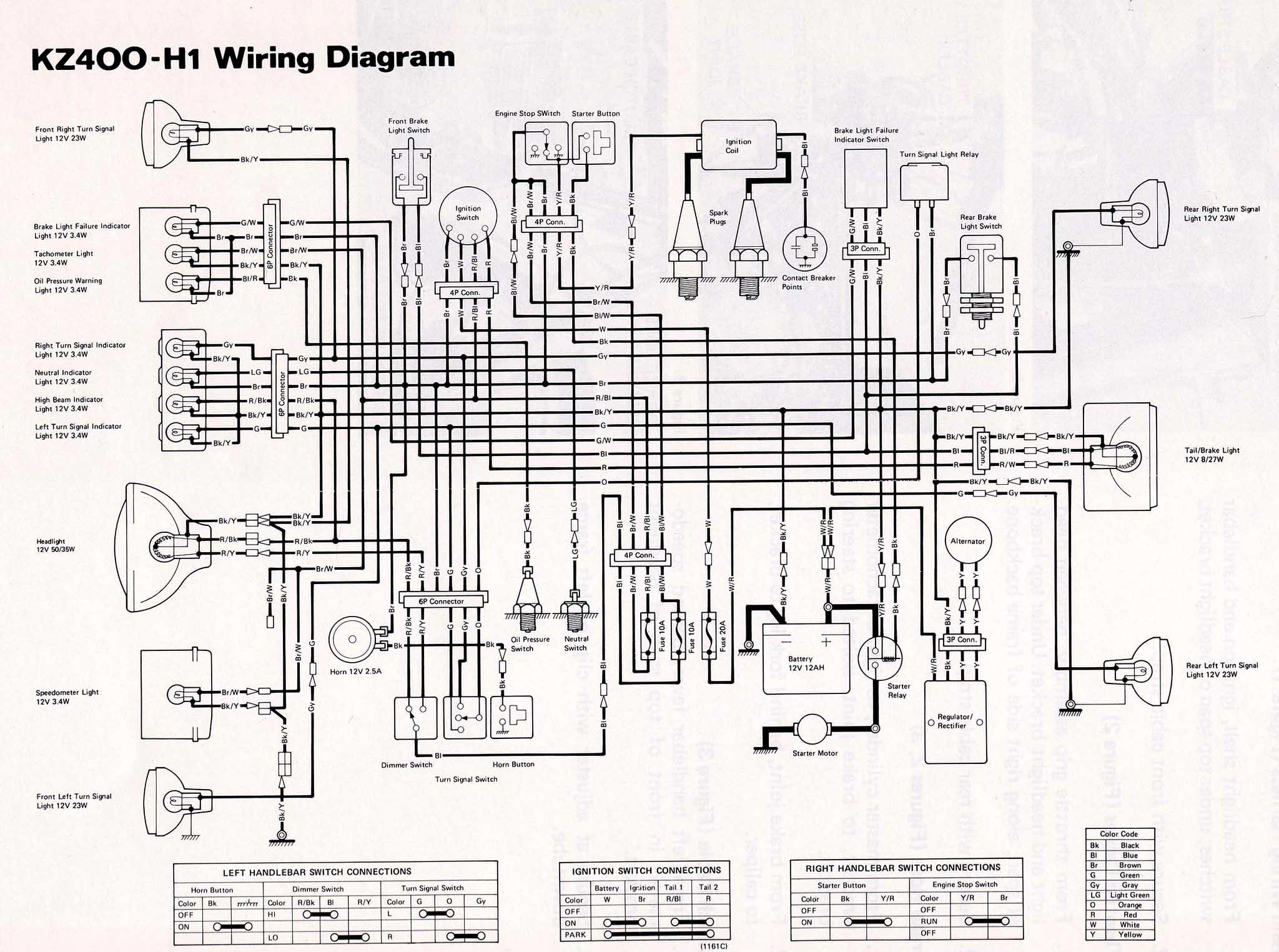 Md Motorcycle Wiring Diagrams Also Kawasaki Kz