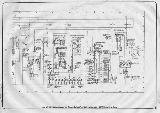 1976 toyota celica wiring diagram  4 pin cfl wiring diagram