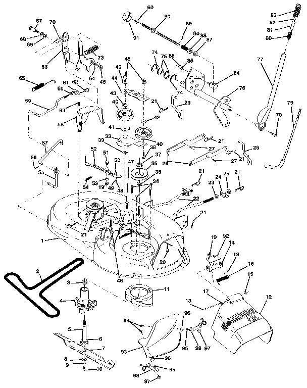 Belt Deck Diagram Craftsman 42 Mower