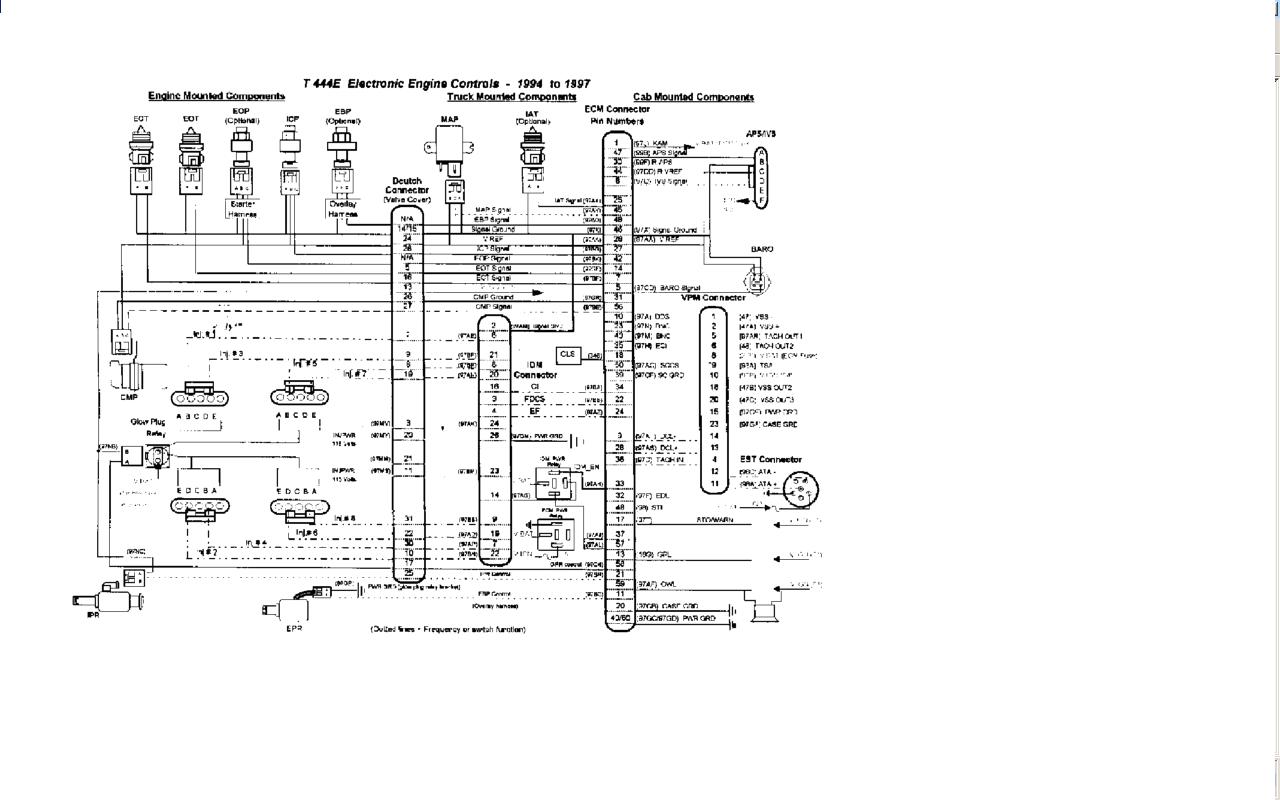 International T444e Wiring Diagram