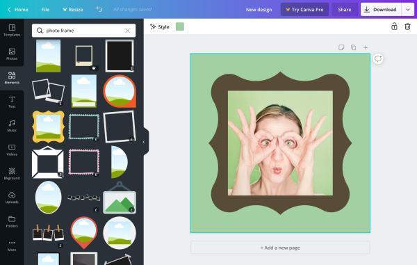 Вставьте фото в рамку онлайн | Бесплатные фоторамки | Canva