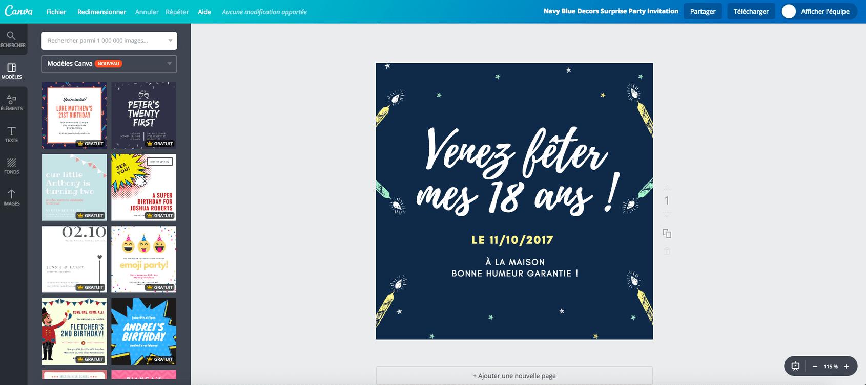 cartes d invitation d anniversaire des