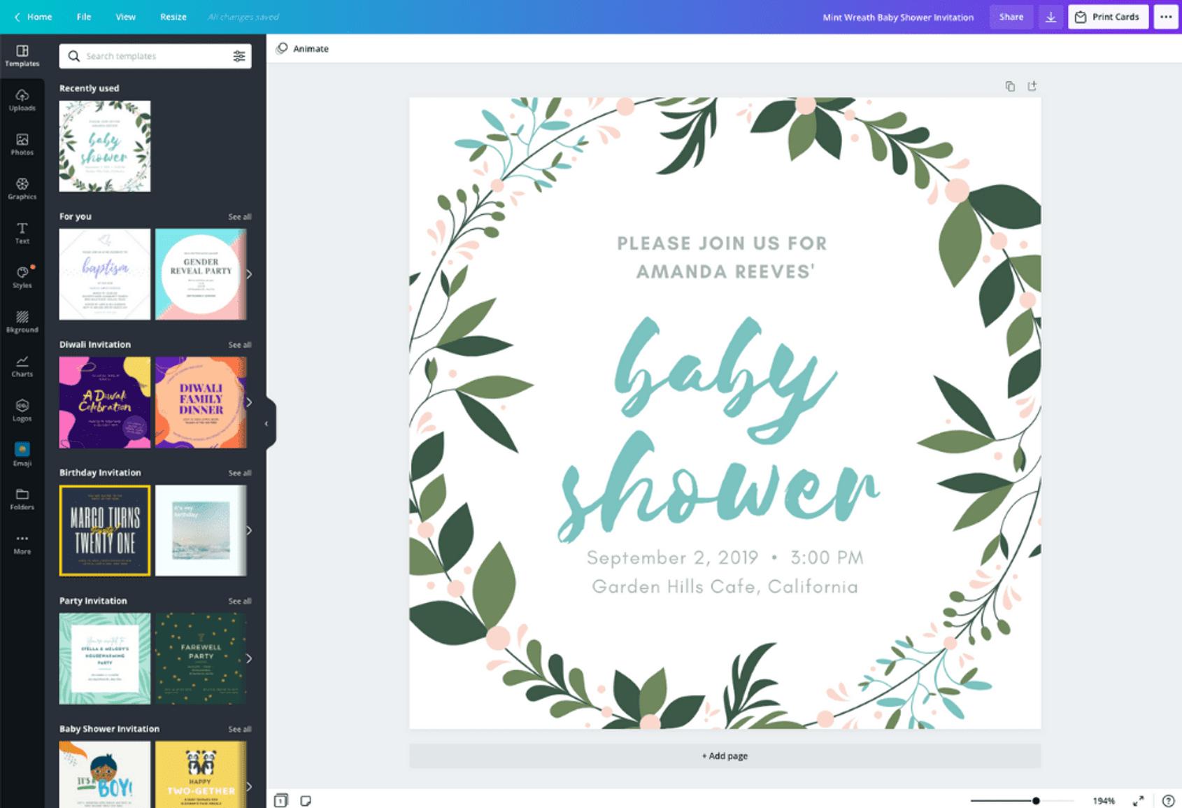 carte d invitation de baby shower