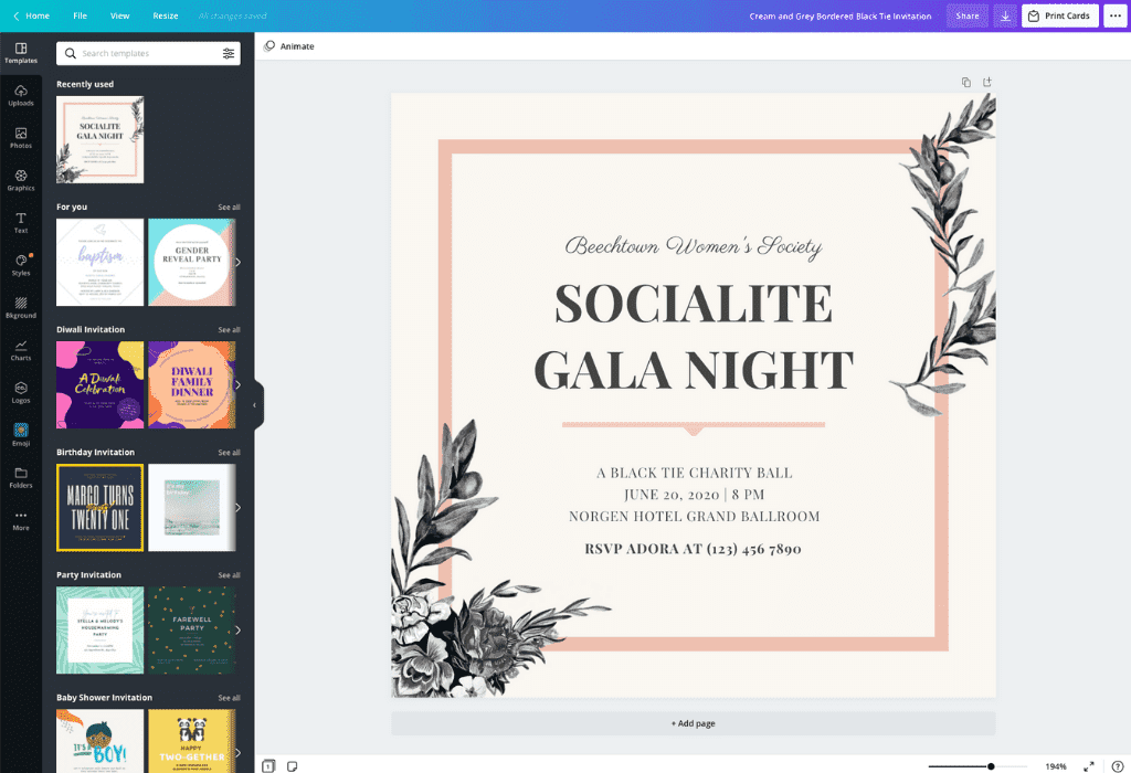 Make your own wedding invitations using this easy to follow video tutorial. Invitation Maker Design Your Own Custom Invitation Cards Canva