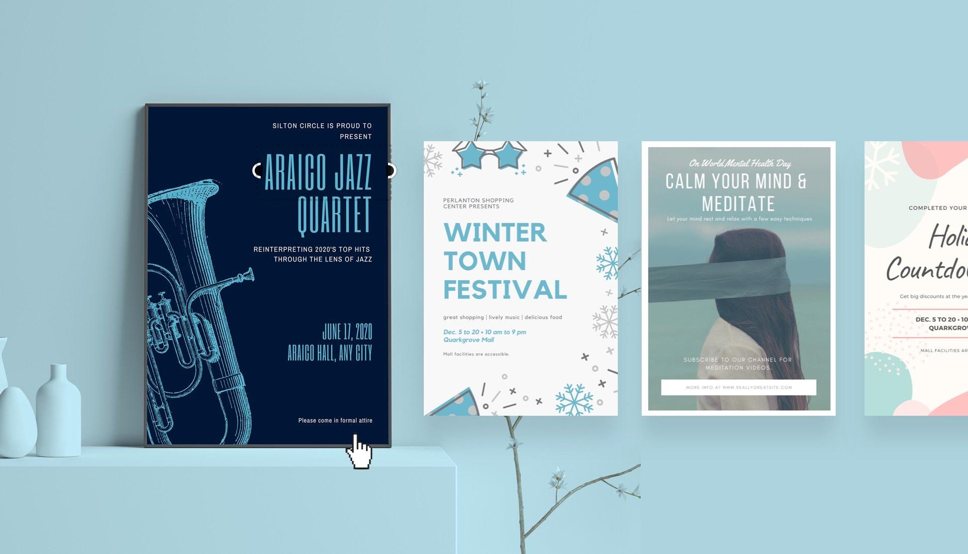 free online poster maker design custom