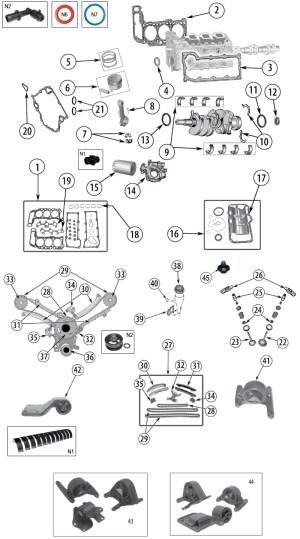 Diagrama Motor Jeep KJ Liberty 20022007  Salistre Jeep