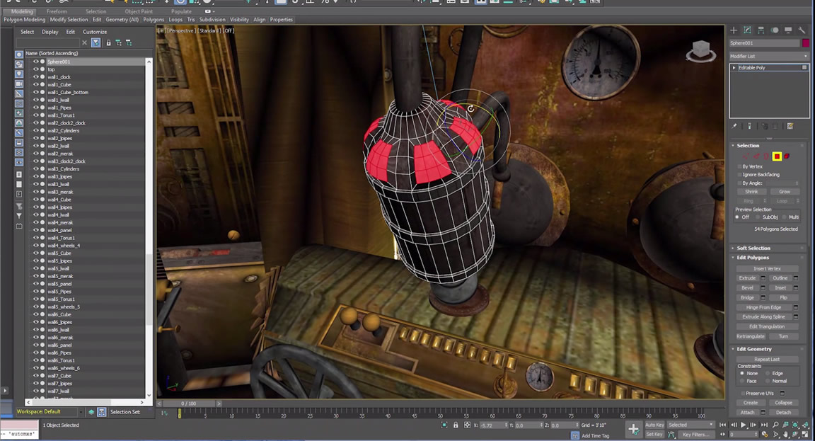 Object tool: more efficient modeling, animating, and rendering tools