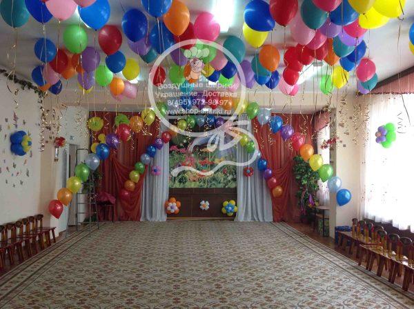 Украшение детского сада шарами, украшение шарами детского ...