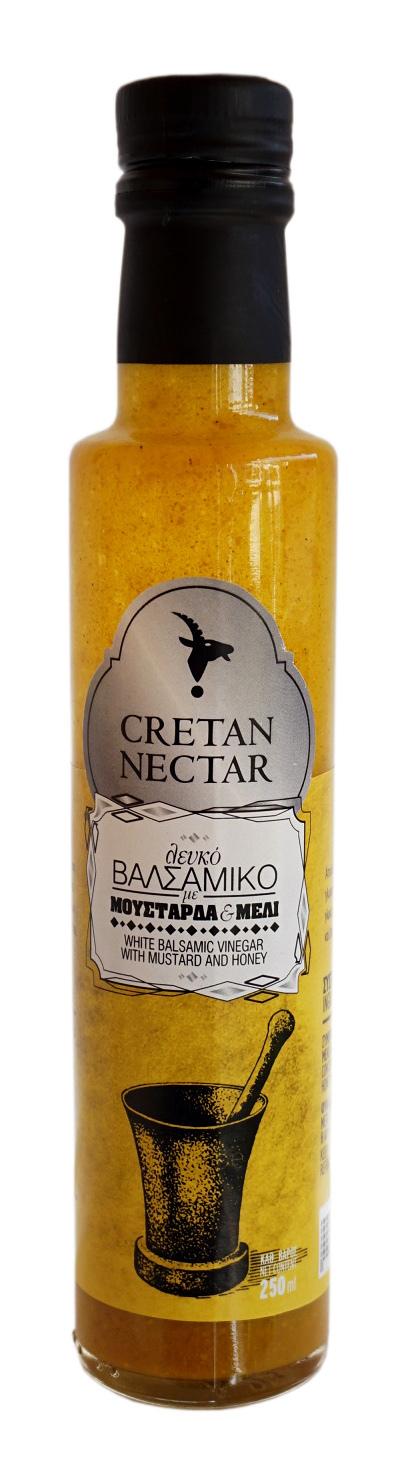 Белый бальзамический уксус с горчицей и медом Cretan ...