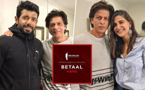 Shah Rukh Khan Pays A Surprise Visit To Betaal Actors Aahana Kumra ...