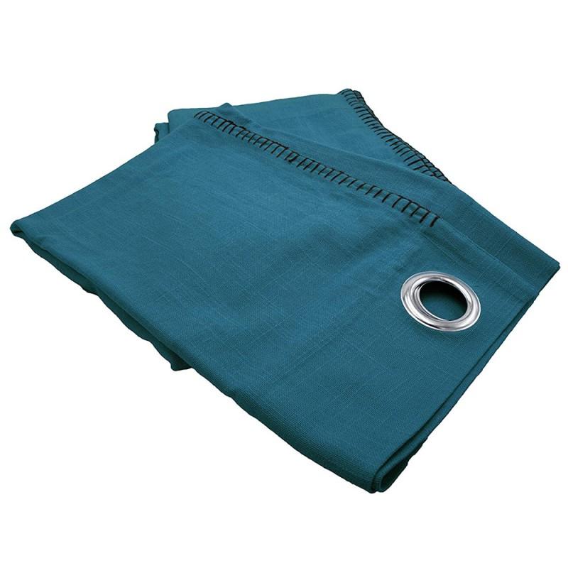 rideau portofino 150x260 cm bleu petrole