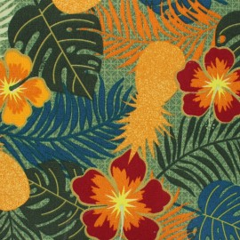 tissu toile transat dralon paraguay orange x 10cm
