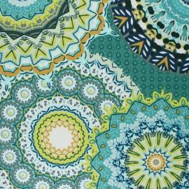 tissu toile transat dralon yucatan vert x 10cm