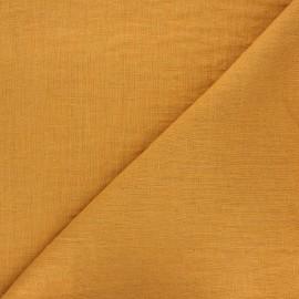 tissu lin lave thevenon ocre x 10cm