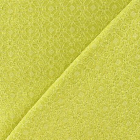 coupon 10 cm x 148 cm tissu doublure lourde jacquard jaune