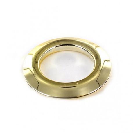 oeillet a clipper plastique 40 mm metallique brillant dore