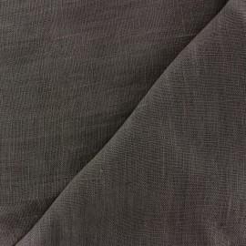 tissu lin lave thevenon gris anthracite x 10cm