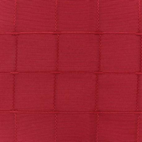 coupon 140 cm x 280 cm tissu jacquard grande largeur isis 280 cm framboise