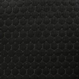 tissu jersey matelasse lurex reversible noir x 10cm
