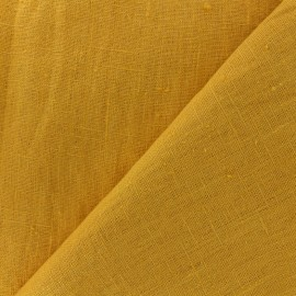 tissu lin lave thevenon jaune ananas x 10cm
