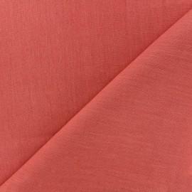 tissu lin grande largeur corail x 10cm
