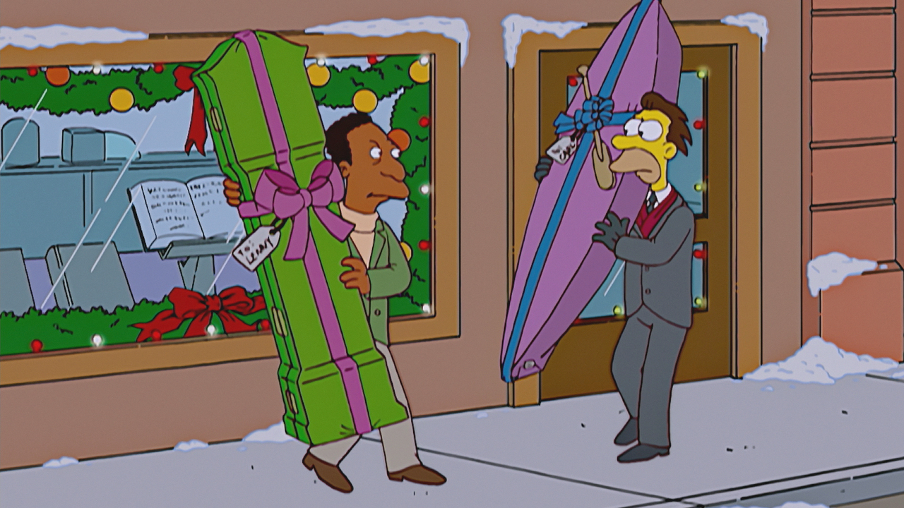 Image result for gift giving simpsons