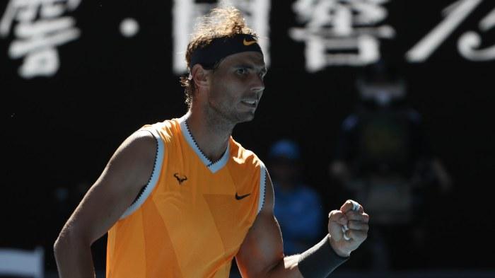 Australian Open - Spain's Rafael Nadal reacts during the match against Czech Republic's Tomas Berdych. (Image: Reuters)
