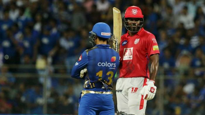 Gayle brought up his fifty off just 31 balls with a six in the 11th over. KL Rahul got to his fifty off 41 balls in the 13th over. Gayle was dismissed right after that as he found Krunal Pandya at deep midwicket off Jason Behrendorff's bowling. The Universe Boss returned with 63 off 36 sharing a 116-run opening stand with Rahul. (Image: BCCI, iplt20.com)