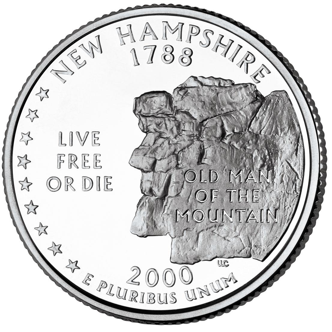 Dollar Washington Quarter New Hampshire