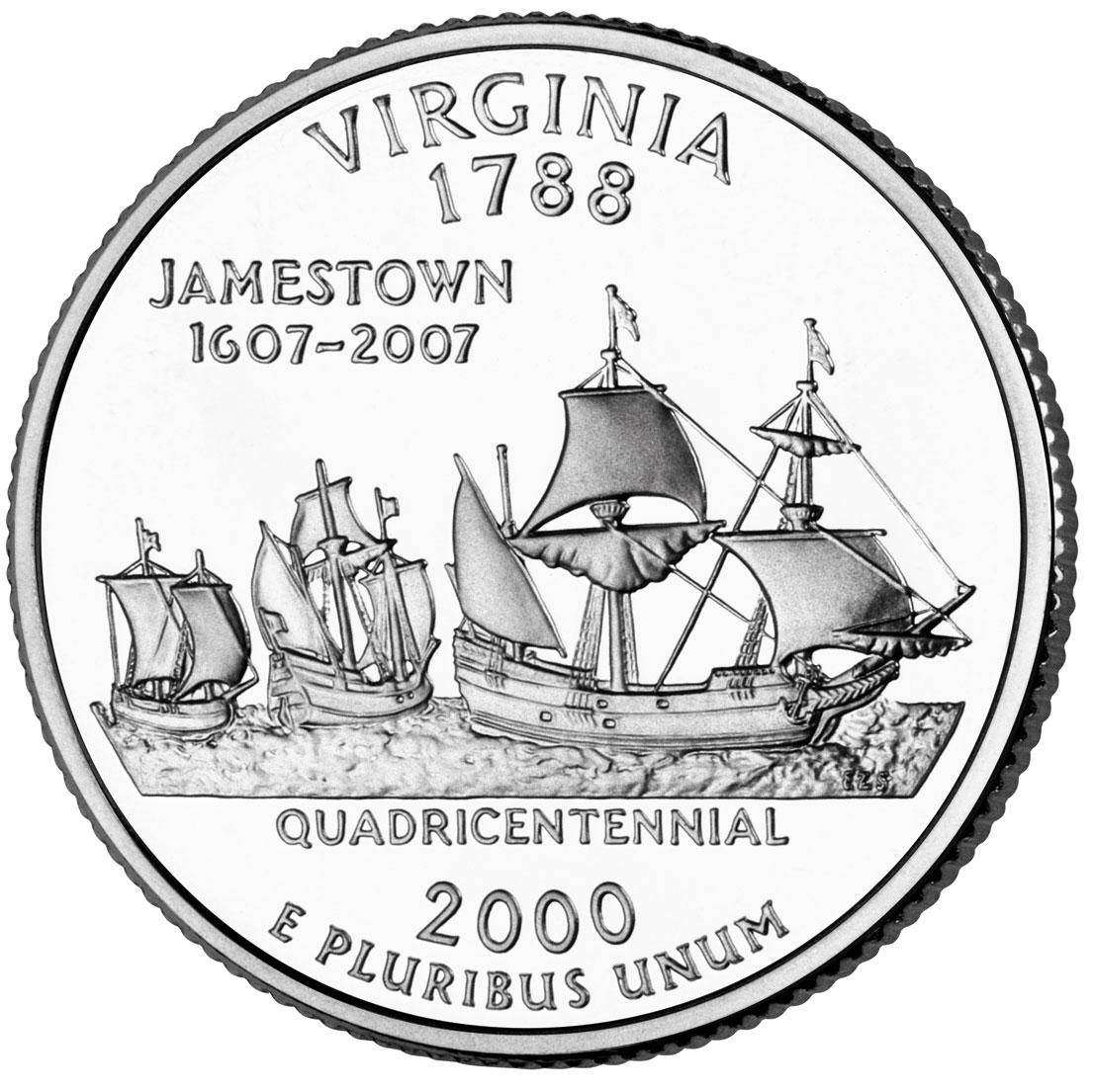 Dollar Quarter Virginia Cupronickel