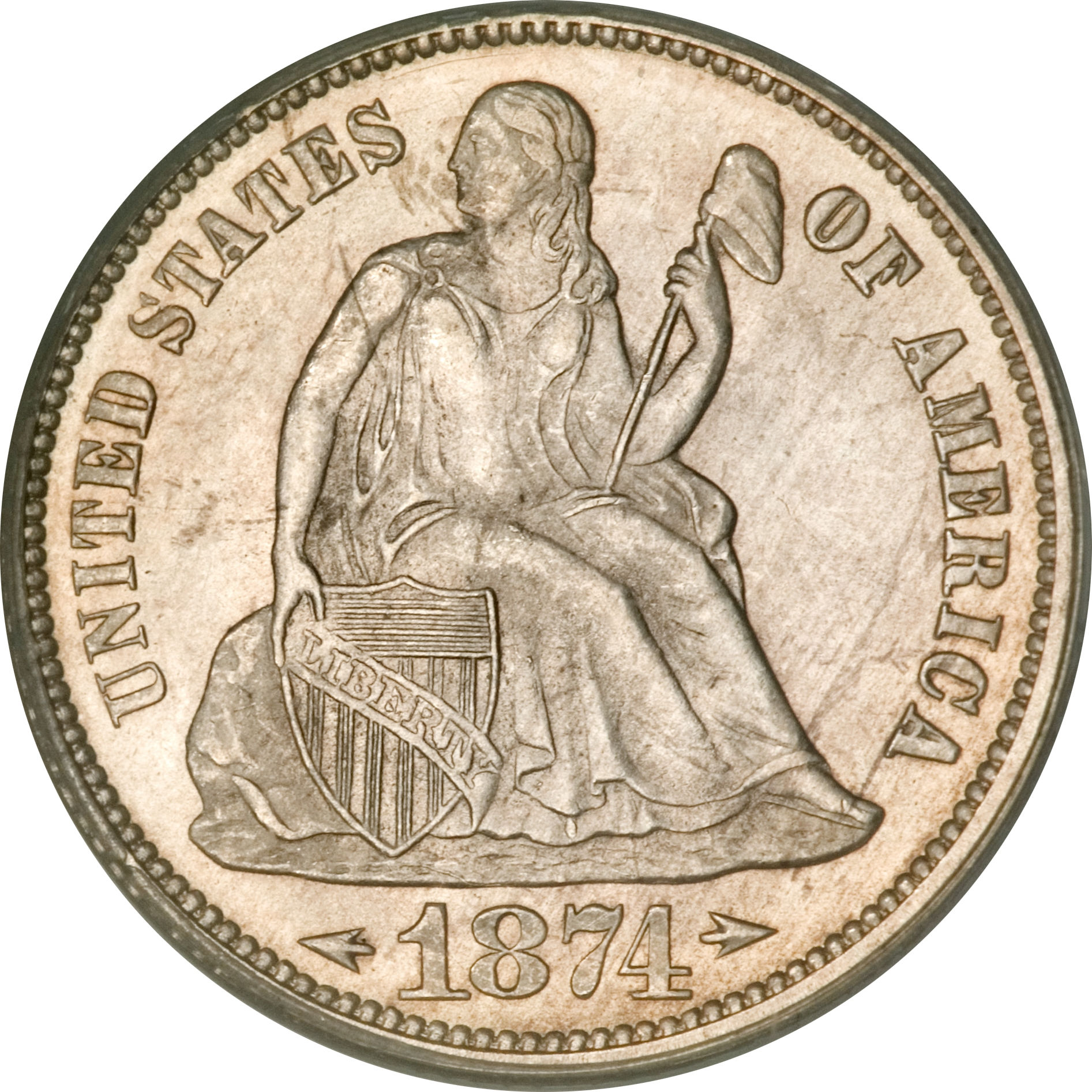 1 Dime Seated Liberty Dime Arrows At Date