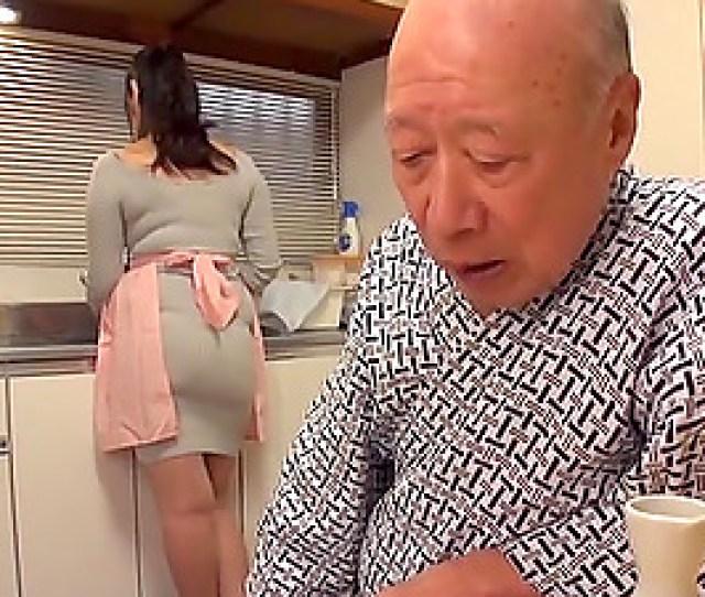 Old Guy Finally Talks Busty Nonami Shizuka Into Pleasing His Dick