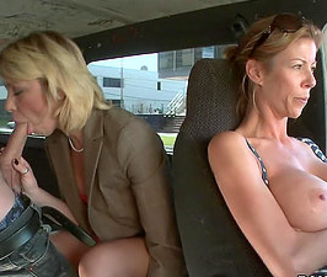 Horny Blonde Cougar Fucks In The Back Of A Van With Her Clothes On