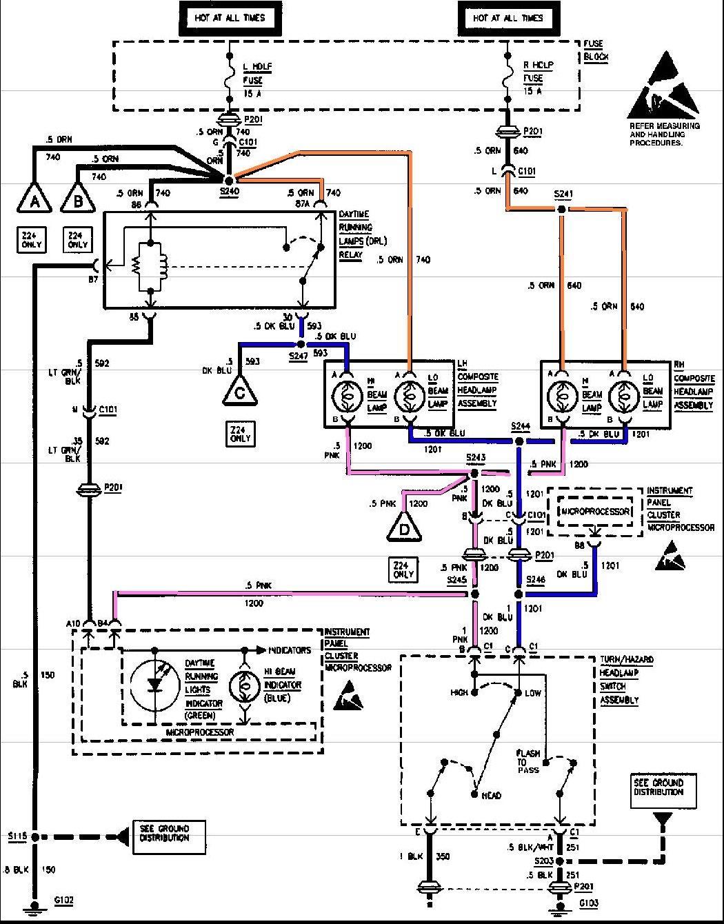 Chevy Cavalier Headlight Wiring Diagram