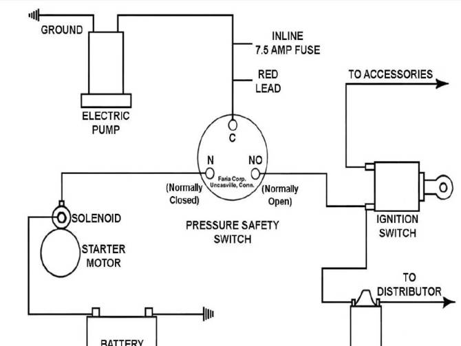 oil pressure kill switch wiring diagram  4 wire receptacle