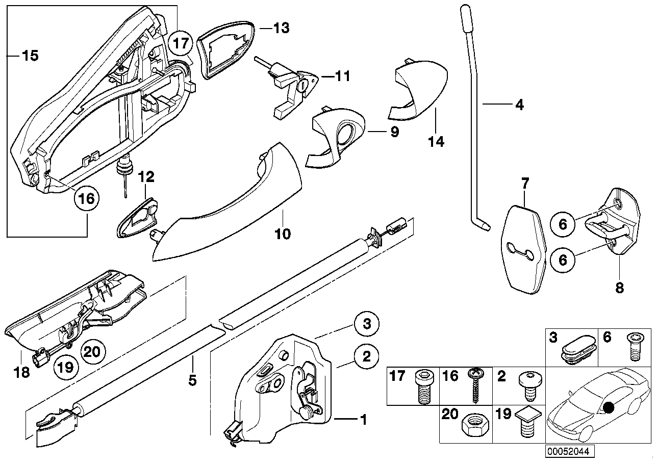 Xs Rear Tailgate Diagram Furthermore Door Lock