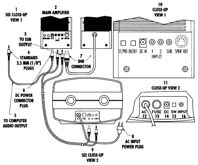 lg1863 wiring diagram for stereo computer speakers