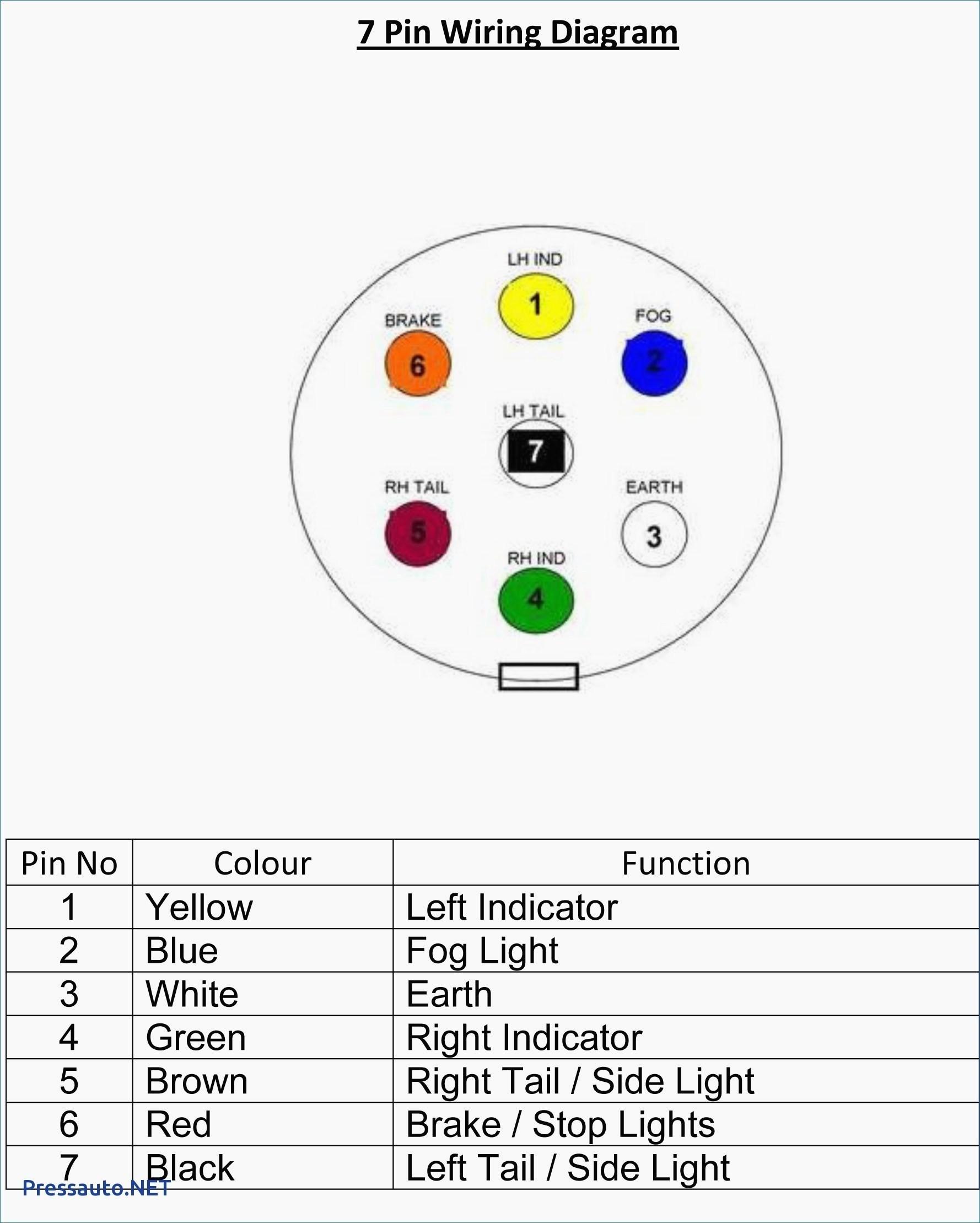 Toyota 7 Pin Trailer Plug Wiring Diagram