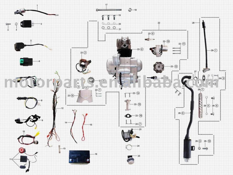 Wiring Diagram For 110cc Mini Chopper