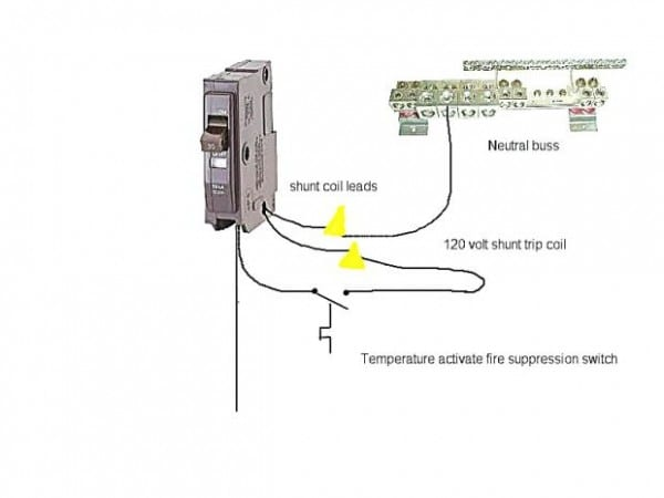 2 wire thermostat wiring diagram shunt trip breaker john