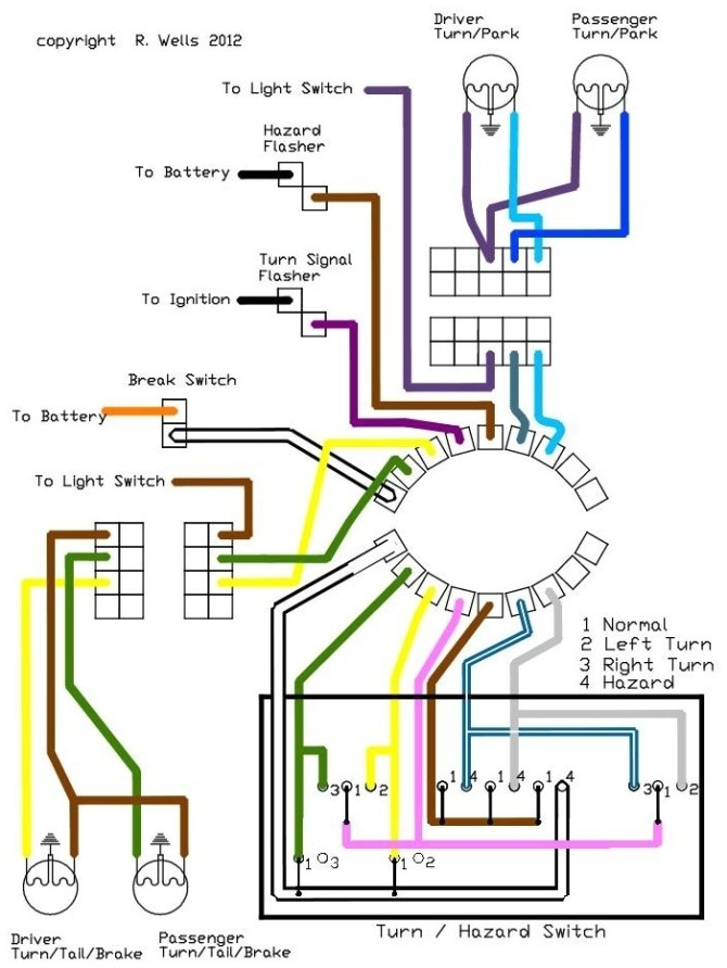 1969 camaro emergency flasher wiring diagram  wiring